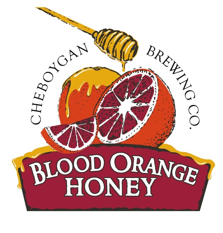 Cheboygan Blood Orange Honey beer Label Full Size