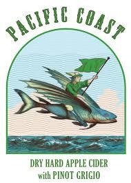 Pacific Coast Pinot Grigio Hard Apple Cider beer Label Full Size