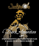 Jackie O's Bourbon Barrel Dark Apparition beer