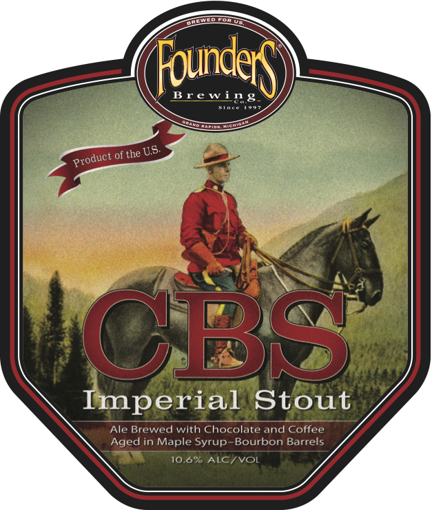 Founders Canadian Breakfast Stout beer Label Full Size