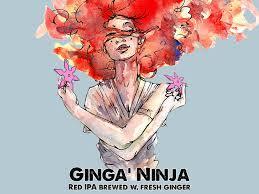 Black Hog Ginga' Ninja beer Label Full Size