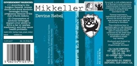 BrewDog Mikkeller Devine Rebel beer Label Full Size