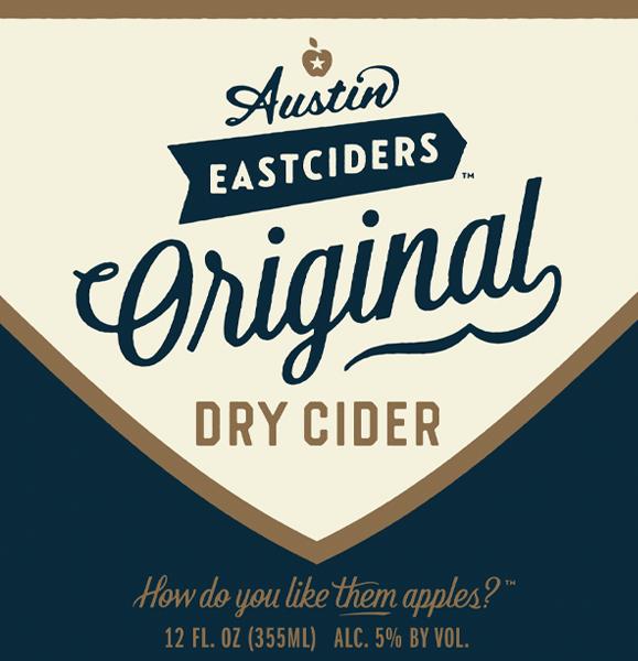 Austin Eastciders Original Dry Cider beer Label Full Size