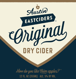 Austin Eastciders Original Dry Cider beer