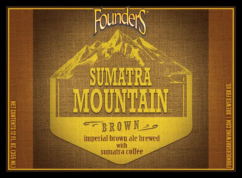 Founders Sumatra Mountain Brown beer Label Full Size