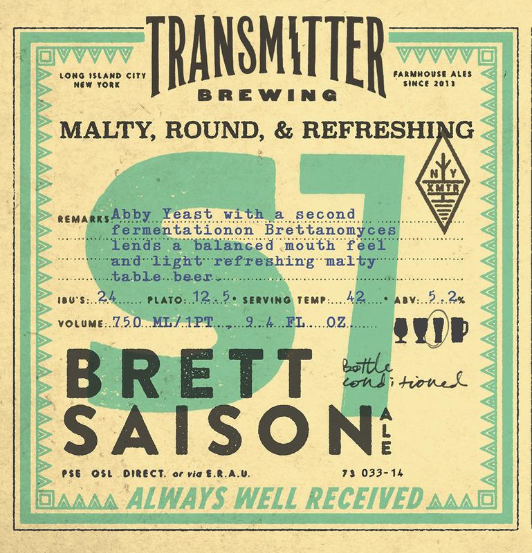 Transmitter S7 Brett Saison beer Label Full Size