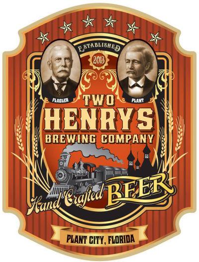 Two Henrys Roasted Jalapeno Blueberry Porter beer Label Full Size