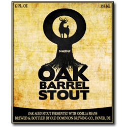 Old Dominion Oak Barrel Stout beer Label Full Size