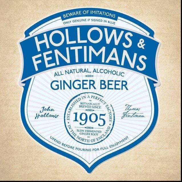Hollows & Fentimans Ginger Beer beer Label Full Size