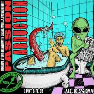 Pipeworks Passion Abduction beer Label Full Size