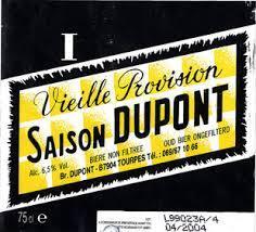 Saison Dupont Vielle Provision Beer