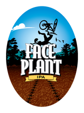 FacePlant Ipa beer Label Full Size