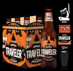 Curious Traveler Pumpkin beer Label Full Size