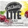 Mike's Hard Lite Black Cherry beer Label Full Size