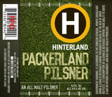 Hinterland Packerland Pilsner beer