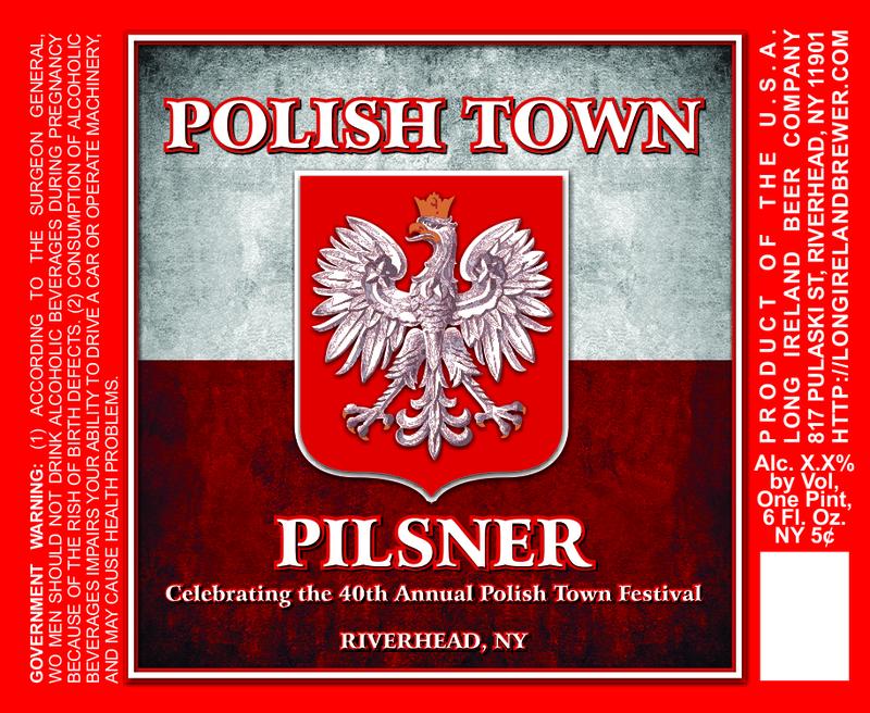 Long Ireland Polish Town Pilsner beer Label Full Size