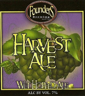 Founders Harvest Ale beer Label Full Size