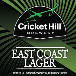 Cricket Hill East Coast Lager beer Label Full Size