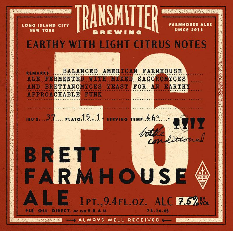Transmitter F6 Farmhouse beer Label Full Size