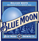 Blue Moon Belgian Style Wheat beer Label Full Size
