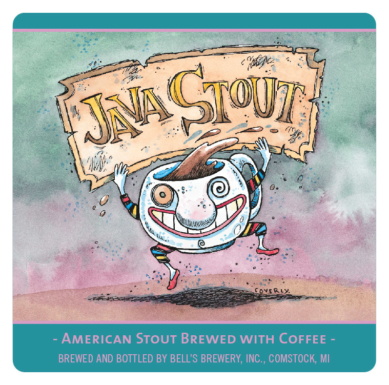 Bell's Java Stout beer Label Full Size