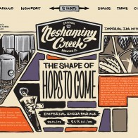 Neshaminy Creek The Shape of Hops to Come beer Label Full Size
