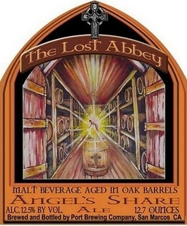 Lost Abbey Angel's Share beer Label Full Size
