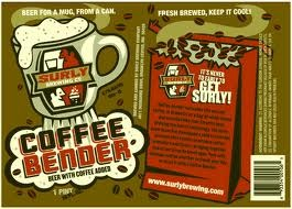 Surly Coffee Bender beer Label Full Size