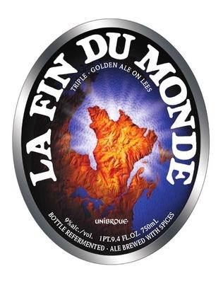 Unibroue La Fin Du Monde beer Label Full Size