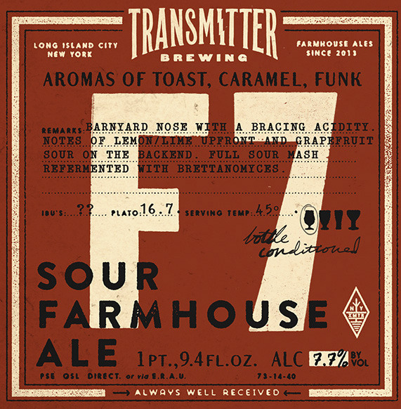 Transmitter F7 Farmhouse Sour beer Label Full Size