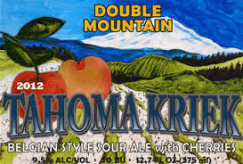 Double Mountain Tahoma Kriek beer Label Full Size