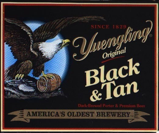 Yuengling Black & Tan beer Label Full Size