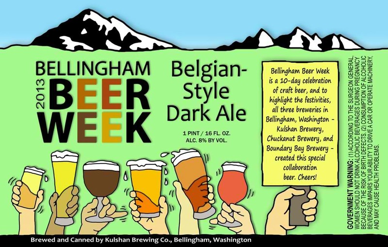 Kulshan Bellingham Beer Week 2013 beer Label Full Size