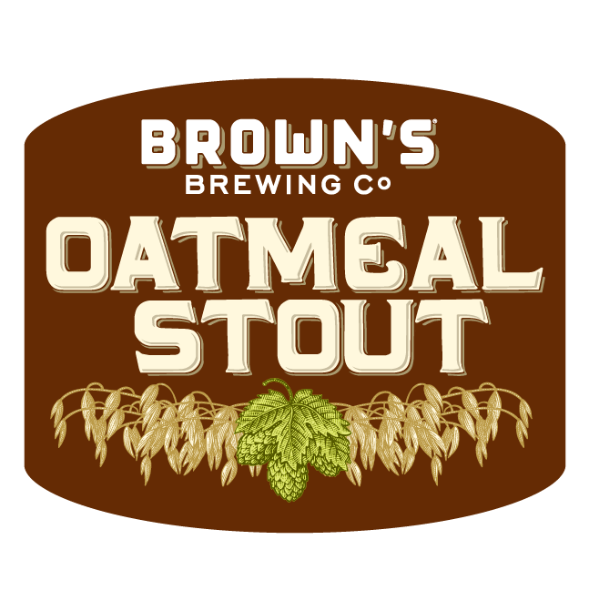 Brown's Oatmeal Stout beer Label Full Size