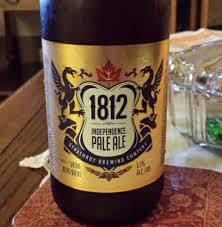 Strathroy 1812 Independence Pale Ale beer Label Full Size