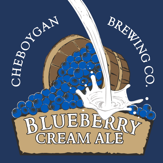 Cheboygan Blueberry Creme Ale beer Label Full Size