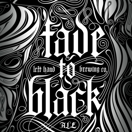 Left Hand Fade To Black beer Label Full Size