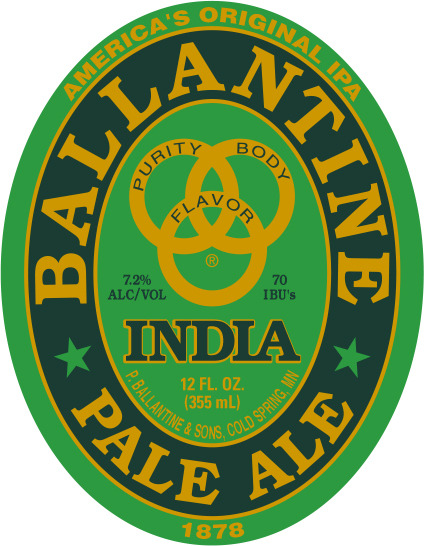 Ballantine India Pale Ale beer Label Full Size