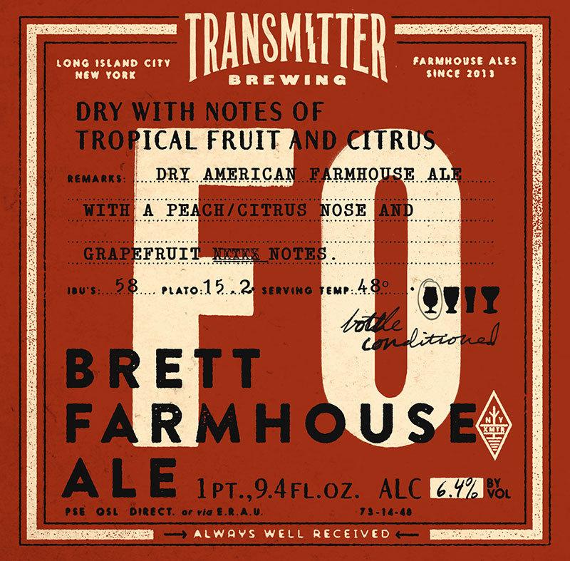 Transmitter F0 Brett Farmhouse beer Label Full Size