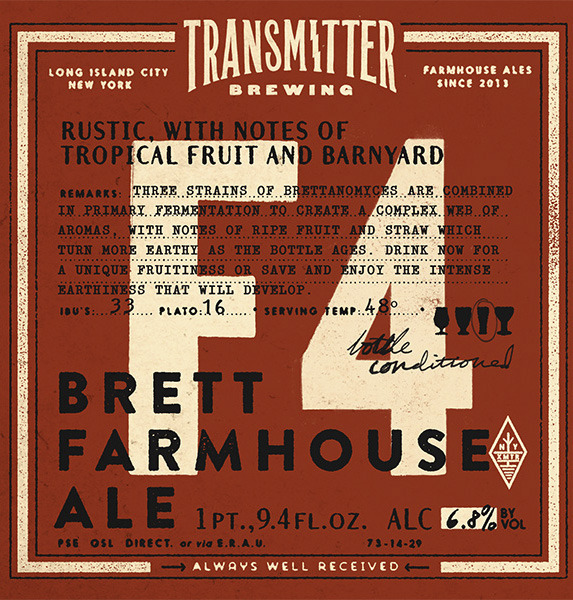 Transmitter F4 3x Brett Farmhouse beer Label Full Size