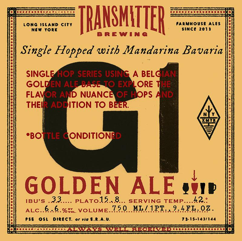 Transmitter G1 with Mandarina Bavaria beer Label Full Size