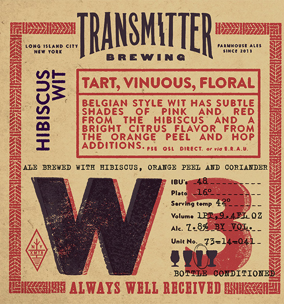 Transmitter W3 Hibiscus Orange Wit beer Label Full Size