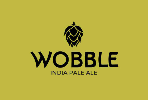 Two Brothers Wobble beer Label Full Size
