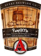 Avery Barrel-Aged Series: Pump[Ky]n beer Label Full Size