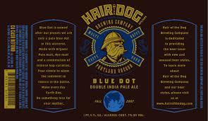 Hair of the Dog Blue Dot beer Label Full Size