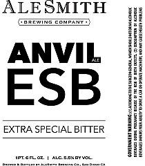 AleSmith Anvil ESB beer Label Full Size