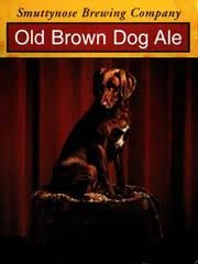 Smuttynose Old Brown Dog beer Label Full Size