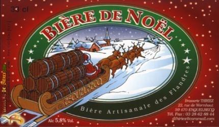Thiriez Biere De Noel beer Label Full Size