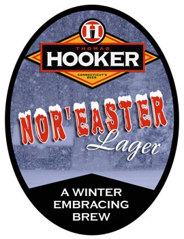 Thomas Hooker NorEaster Lager beer Label Full Size