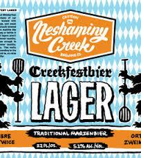 Neshaminy Creek Creekfestbier beer Label Full Size